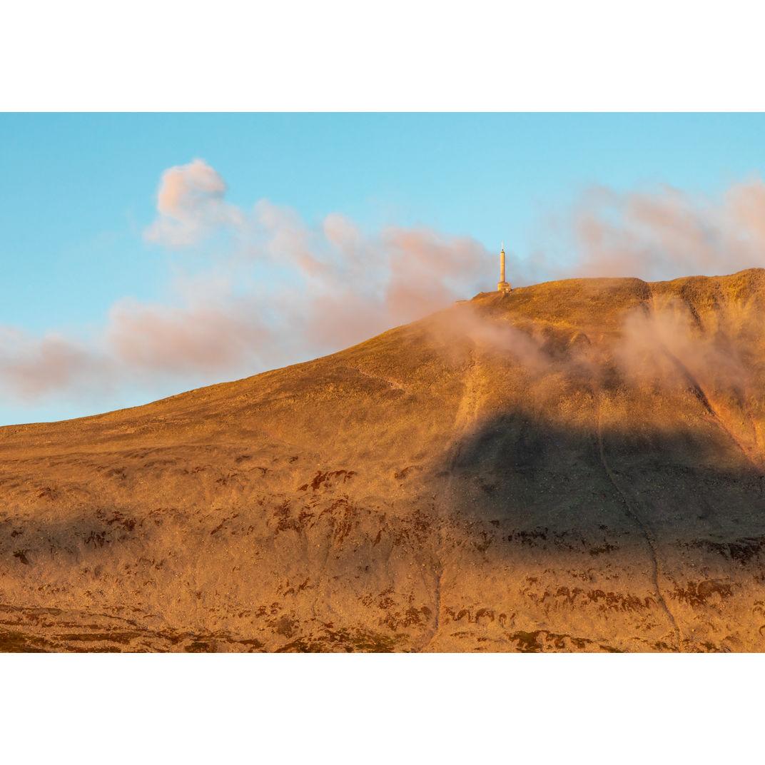 Gaustatoppen in a morning golden hour by Romulo TIJERO