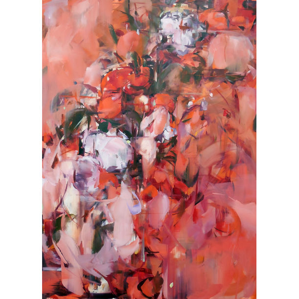 Delacroix, Concubine, Red Flower by Hyunju Kim
