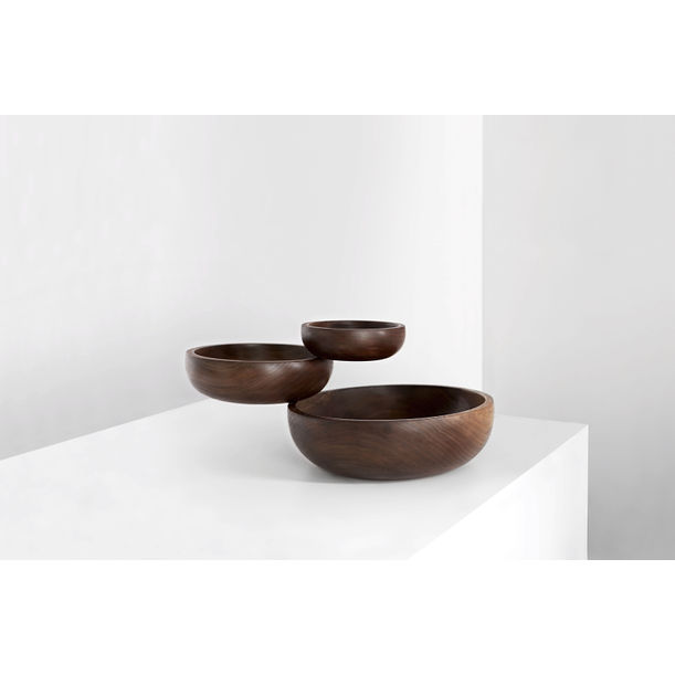 Balancing Wood Sculptural Bowl from the Balance Collection by Joel Escalona by Joel Escalona