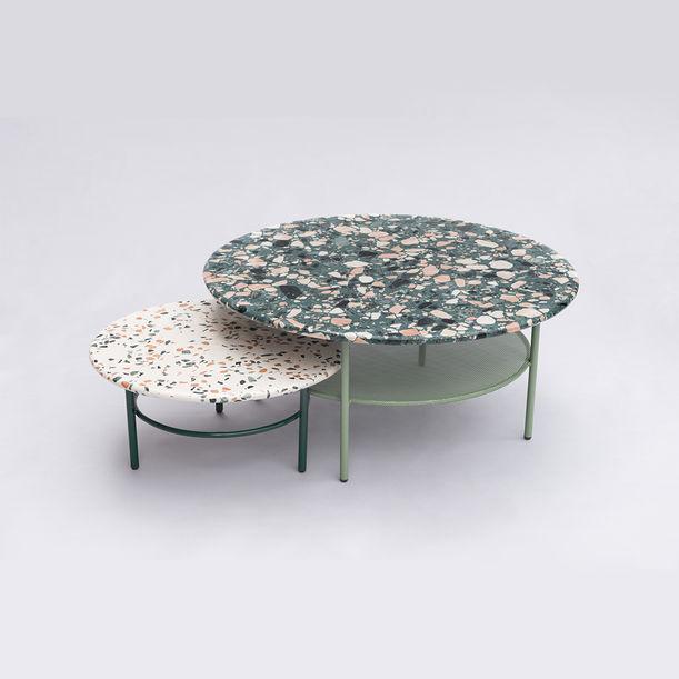 Set of Terrazzo Lira Coffee Tables by Comite de Proyectos