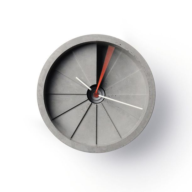 4th Dimension Wall Clock (Red/ Gray) by 22 Design Studio
