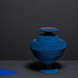 Blue Alchemy - Vase nr. 7 by Siba Sahabi