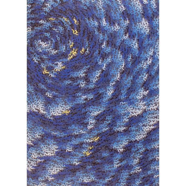 Roaring Hoofs Swirling Blue by Otgonbayar Ershuu