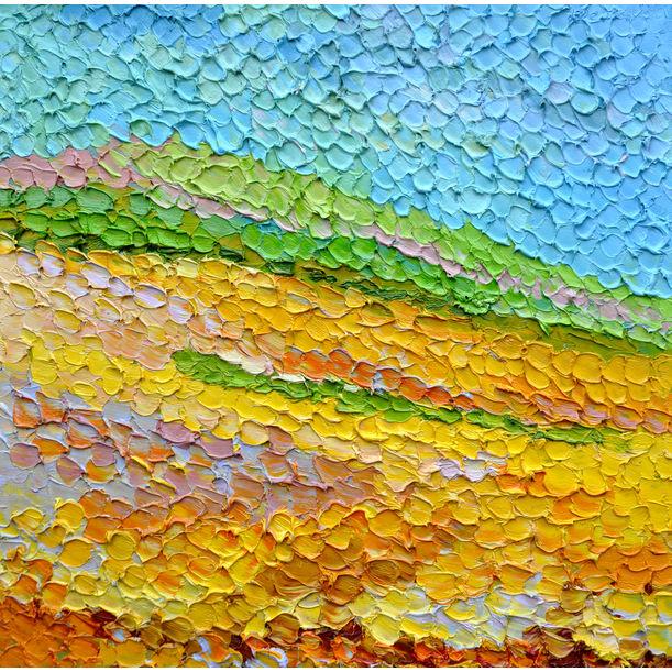 Yellow field by Olga Bezhina