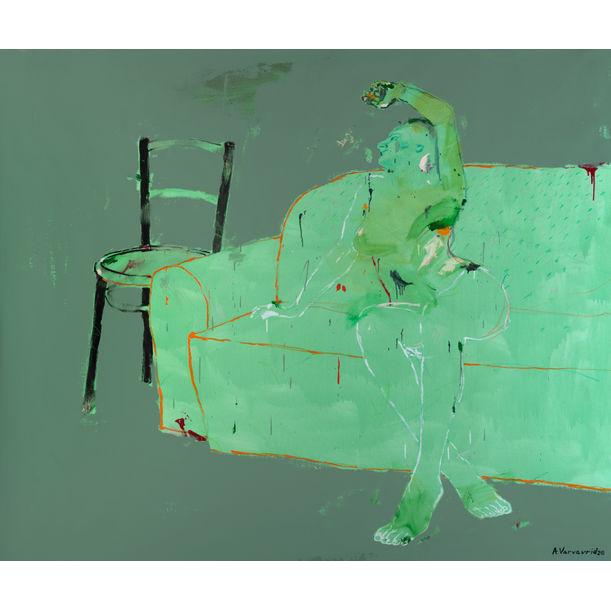 Woman on a Sofa by Alexander Varvaridze