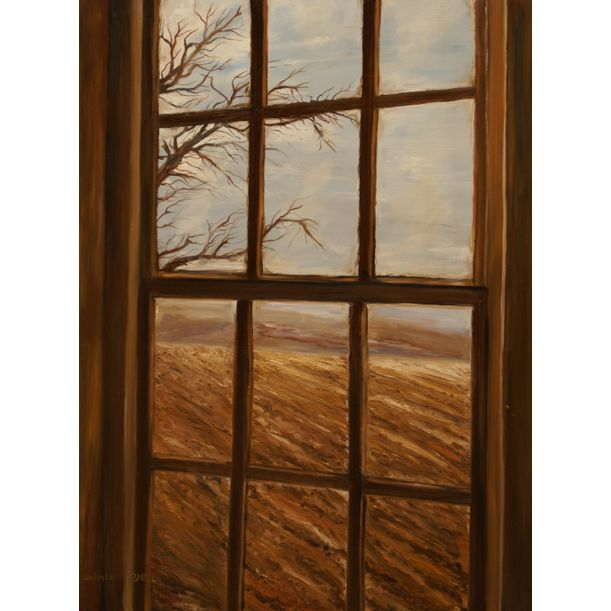 Through the window winter by Yaffa Wainer