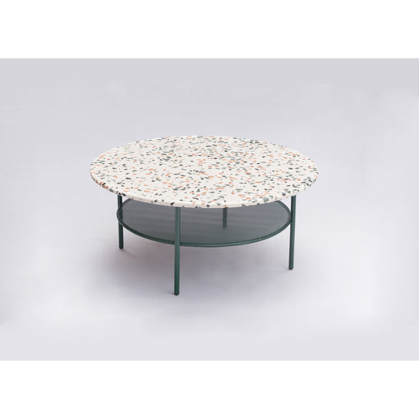 Big white Terrazzo Lira coffee table by Comite de Proyectos