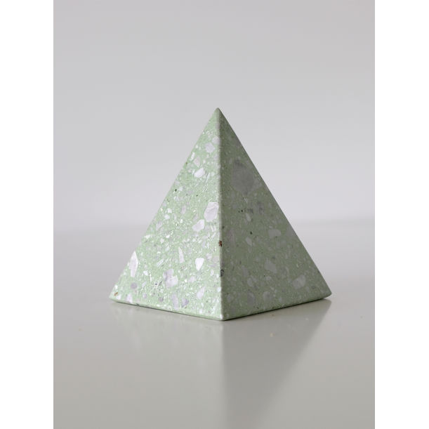 Terrazzo Pyramid Paperweight by KONSTANTIN