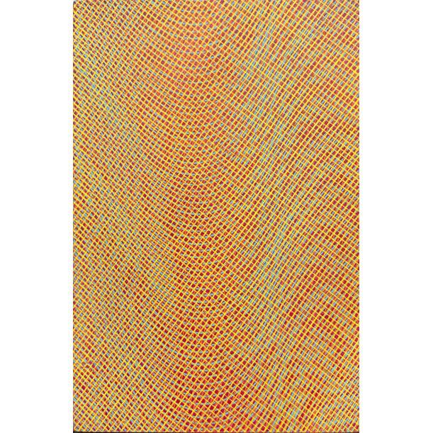 Dark pink, blue, orange, pink, yellow by Selma Dronkers