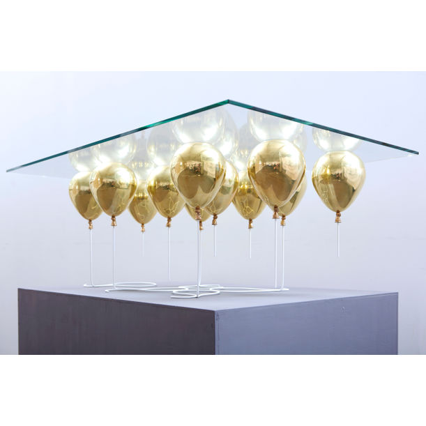 The Up Balloon Coffee Table (Gold) by Duffy London