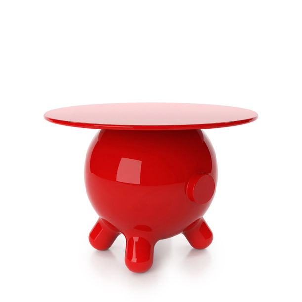 Pogo Red  Extra Large Side Table by Joel Escalona