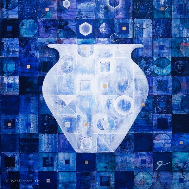 Vessel - Blue by Jyoti Naoki Eri