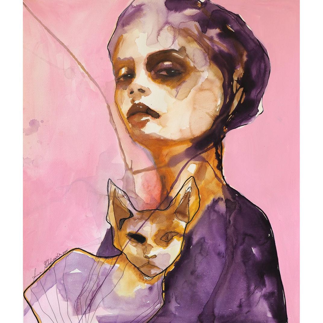 Cat lady by Anna Matykiewicz