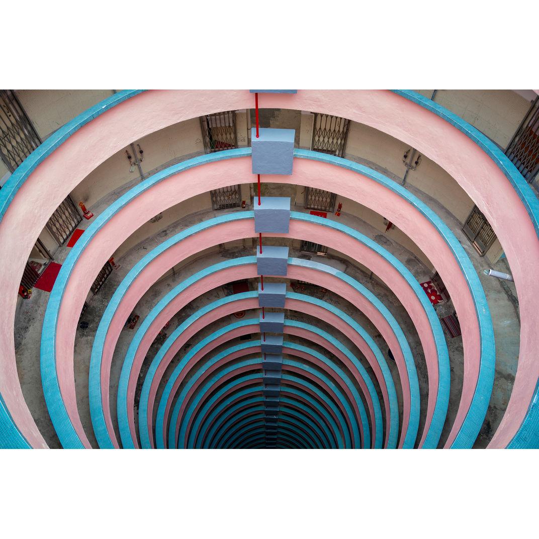 Pink & Blue Spiral by Serge Horta