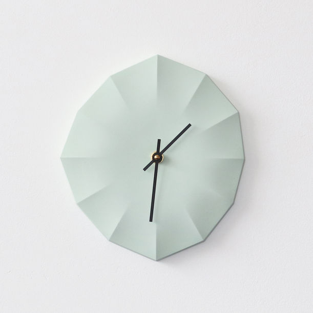 Click Clock L | Bermuda Green with Black Hands by Aratani Fay