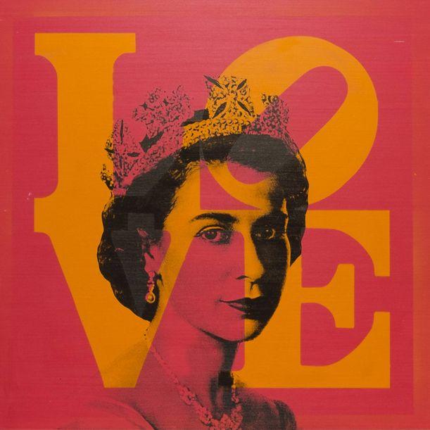 Queen Elizabeth II x Love by Dane Shue