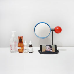 Ball Tabletop Mirror (Red/Blue/Black) by Rcube Design Studio