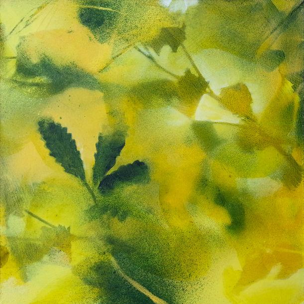 Foliages in yellow and green by Fabienne Monestier
