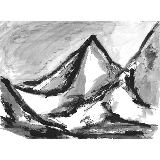 Mountains 001 by Anastasia Vasilyeva