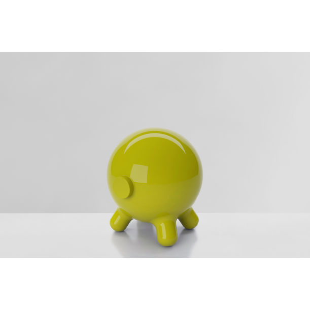 Pogo: Green Decorative Stool and Playful Sculpture by Joel Escalona