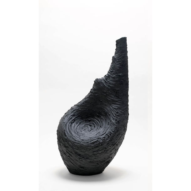 Large Vessel in Black - Texture Series 1 by Beverly Morrison