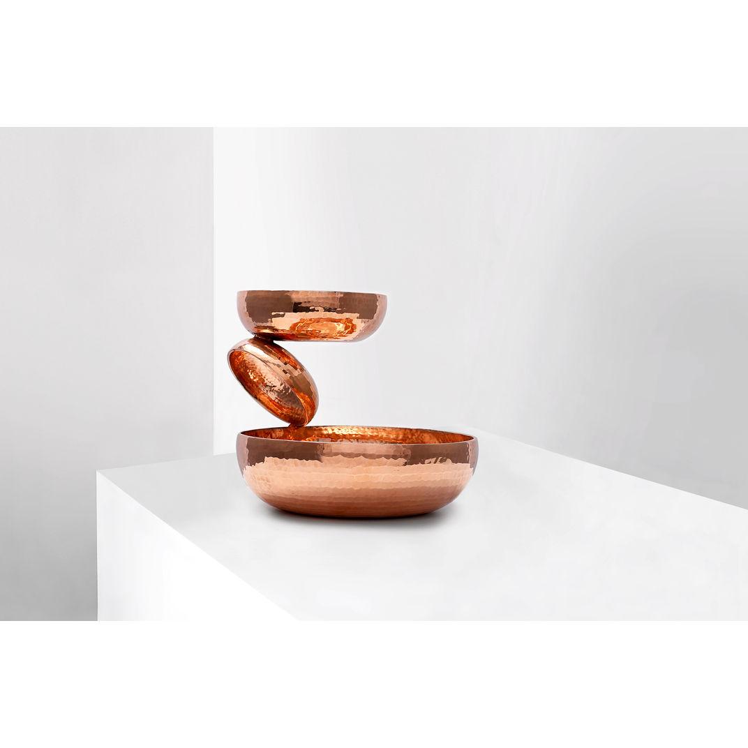Balancing Copper Sculptural Bowl by Joel Escalona