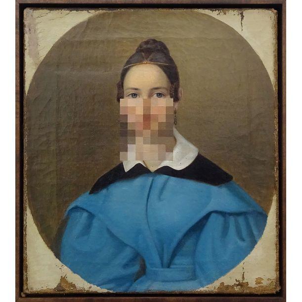 Girl in blue by Peter Buechler