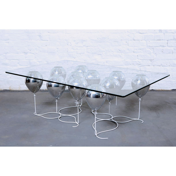 The Up Balloon Coffee Table (Silver) by Duffy London