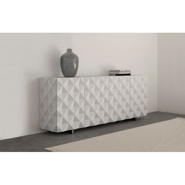 Geometric White Credenza and Sideboard from Rocky Collection by Joel Escalona
