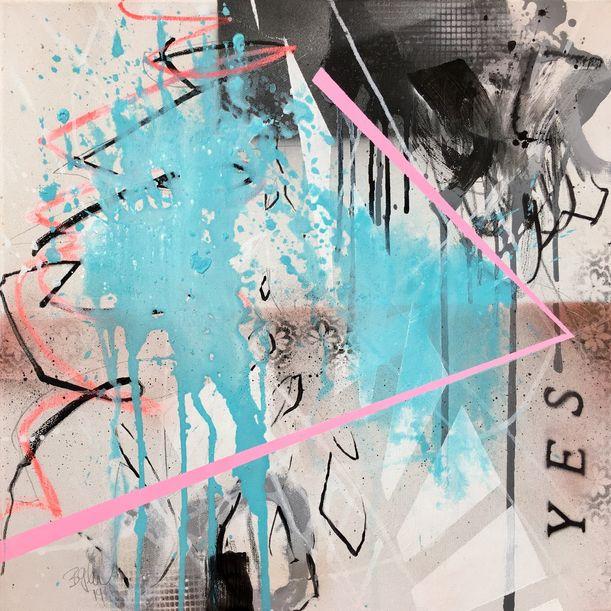 YES II - inspired by Yoko Ono by Bea Garding Schubert