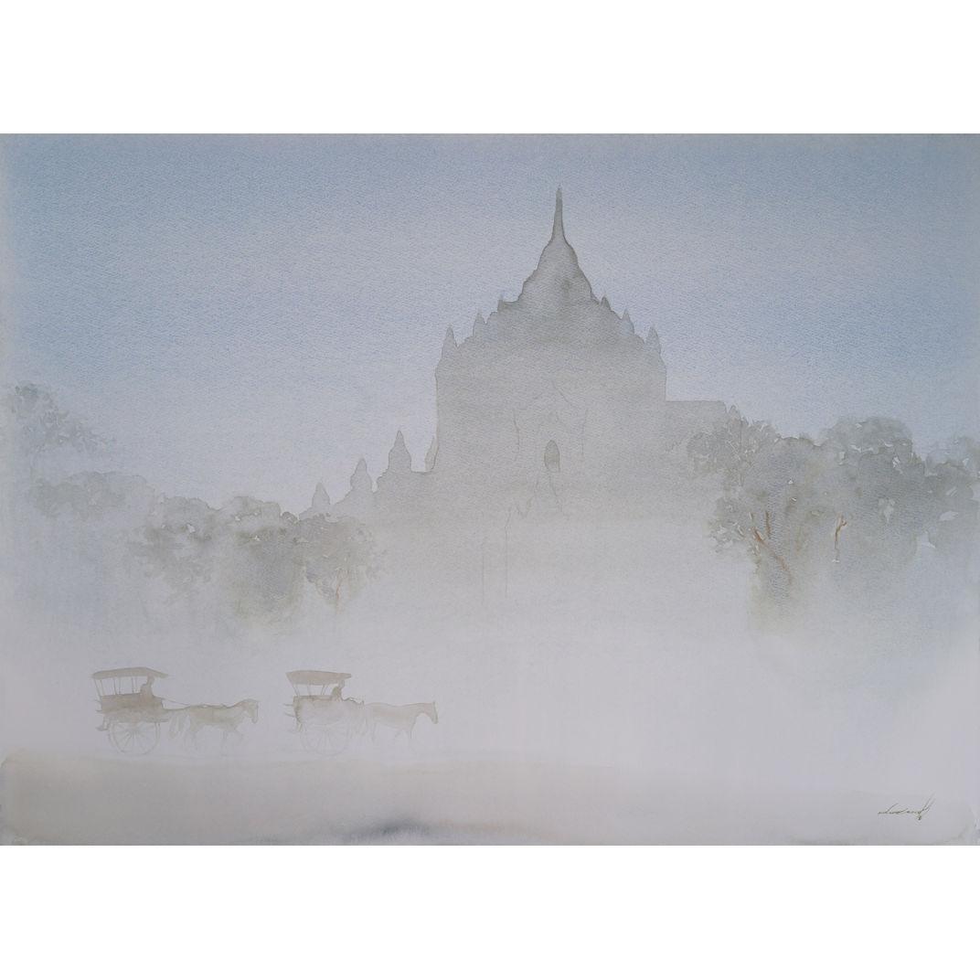 Misty Morning In Bagan by Min Wae Aung