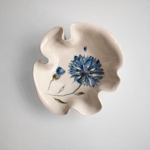 Cornflower Primavera Bowl by Maryia Virshych