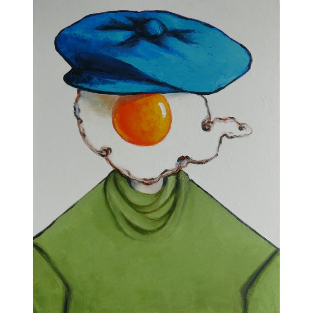Egg boy in blue cap by Ta Thimkaeo
