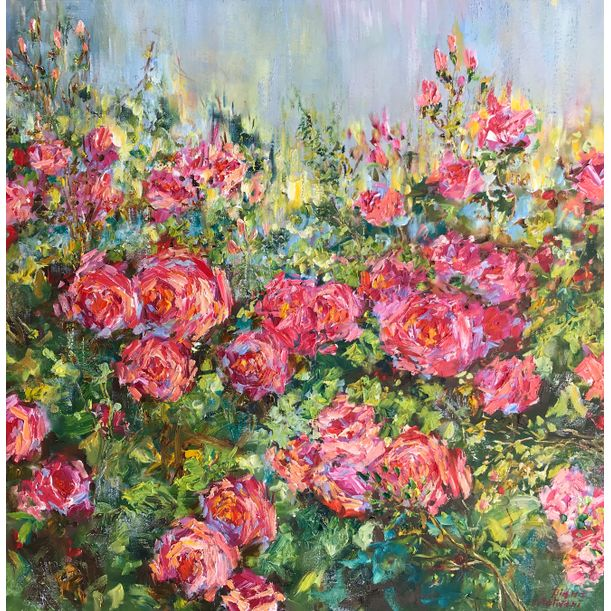 Garden Roses by Diana Malivani