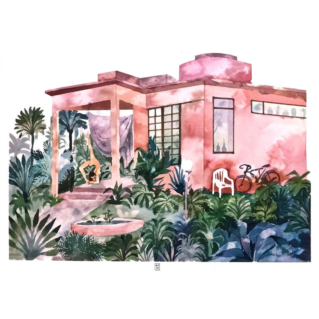 Villa yoga by Pauline Di Valentin