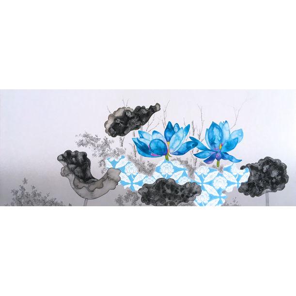 Lotus (Blue) / Summer by Hisahiro Fukasawa