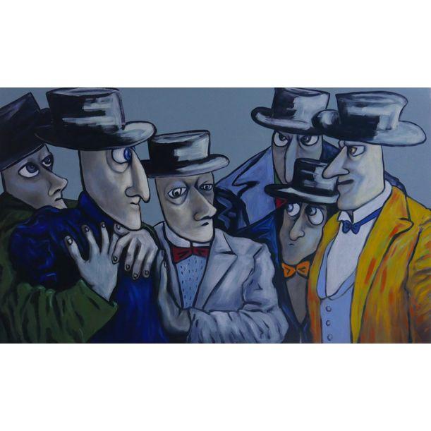 Conspirators in consultation by Ta Thimkaeo
