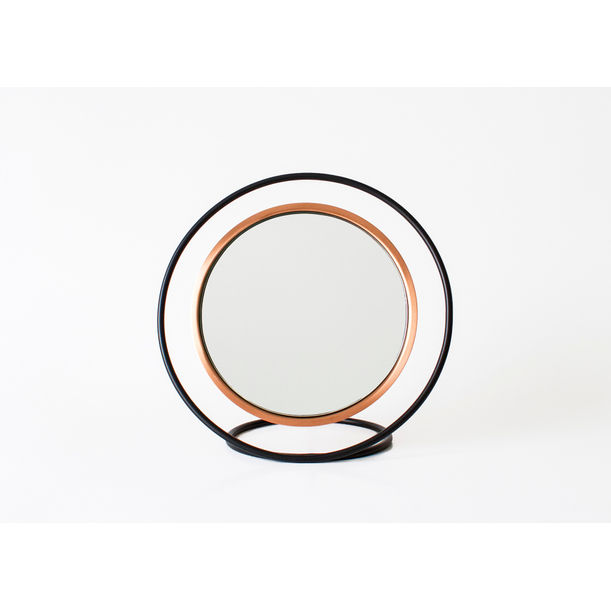 Hollow Table Mirror / Copper by Kitbox Design
