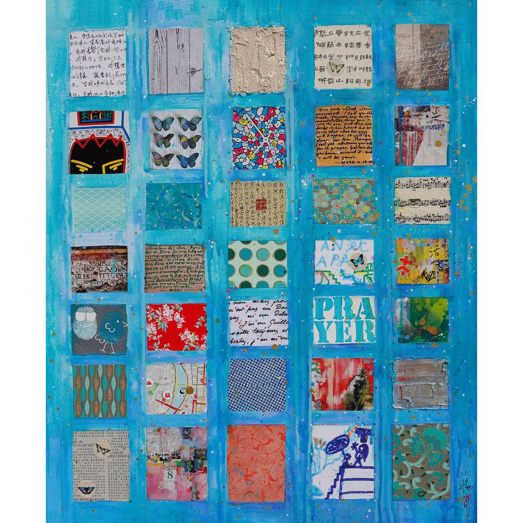 Blue prayer by Xiaoyang Galas