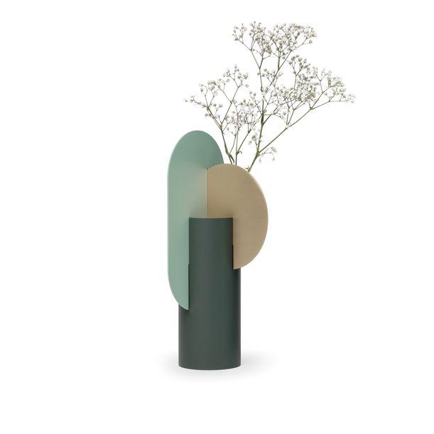 Modern Metal Vase Yermilov CS2 by Noom