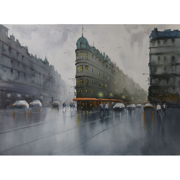 A rainy afternoon in Paris by Swarup Dandapat