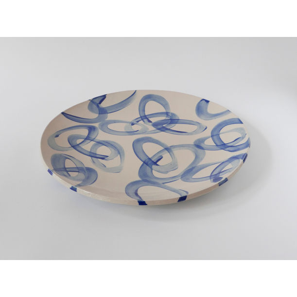 Blue ring platter by Livia Polidoro