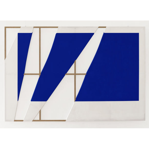 Split Canvas No:2 (Yves Klein International Blue) by Otto Batuhan Turker