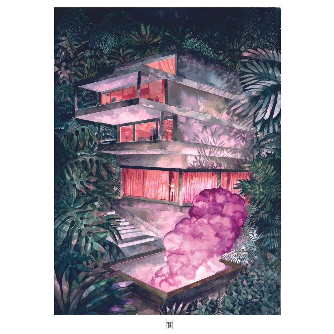 Pink Smoke by Pauline Di Valentin
