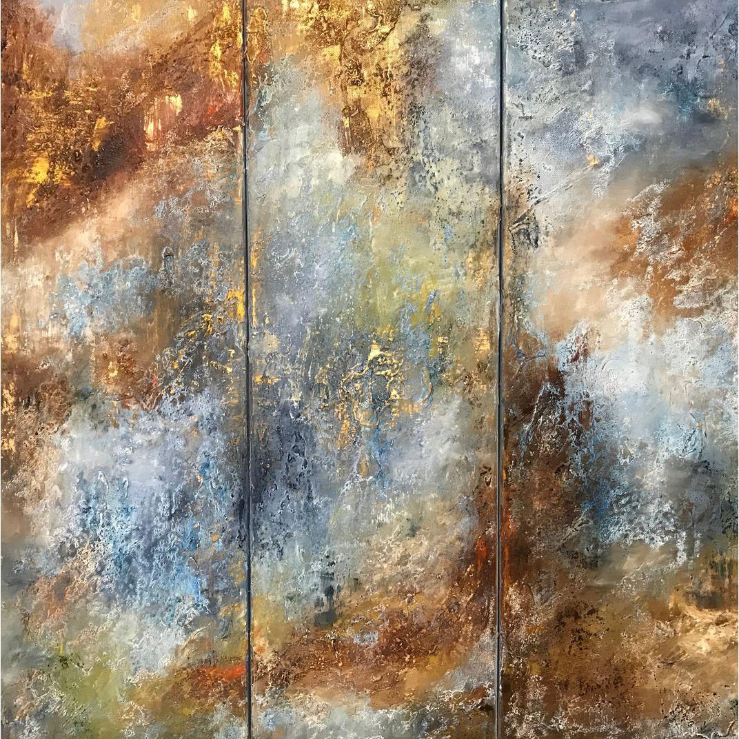 Listening to Chopin. Triptych by Diana Malivani