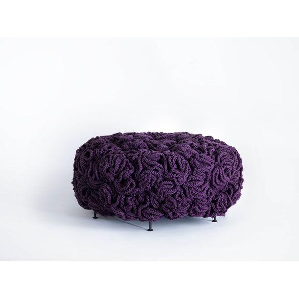 Handmade Crochet Elements Mini Pouf by Iota