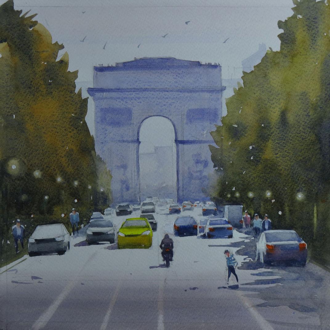 Champs-Élysées by Swarup Dandapat