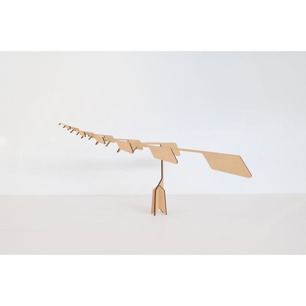 Balancer - Stack Puzzle - Meditative Mobile - Light Brown by BinDesign