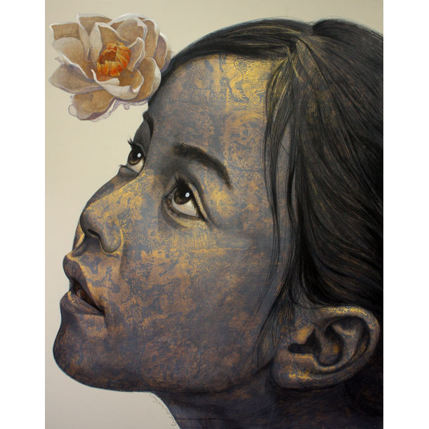 Girl and Flower by Jirasak Plabootong