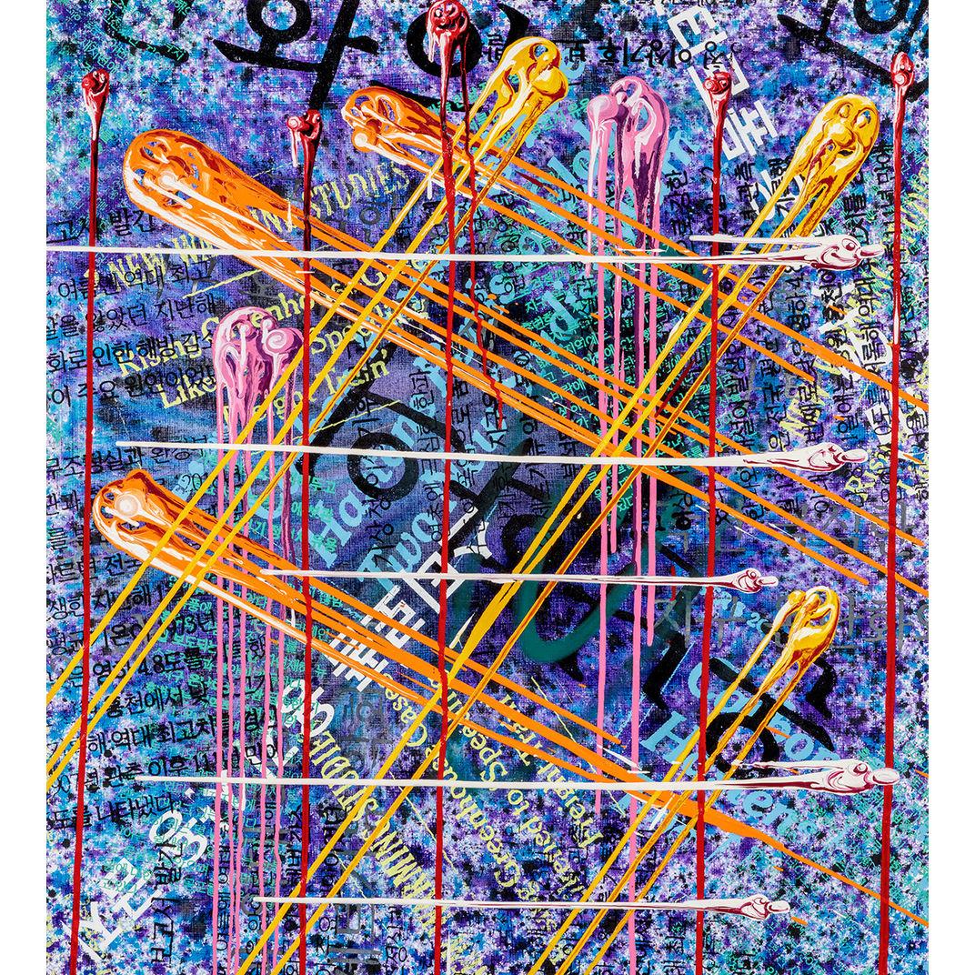 Dire Plaid by Kenny Scharf